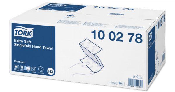 100278 o - Tork premium extra soft towel 2py white