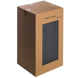 black paper straws 8inches 1 300x300 - Compostable paper straws red stripes (250)