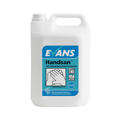 handsan 5lt a051eev2 - HANDSAN alcohol hand sanitiser with moisturiser