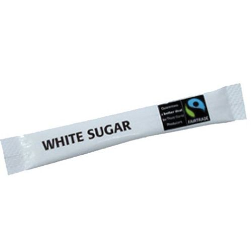 nu 00002 21 - Fairtrade White Sugar Sticks 2.5g (1000)